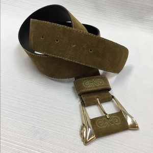 Genuine Suede Leather Belt by Express